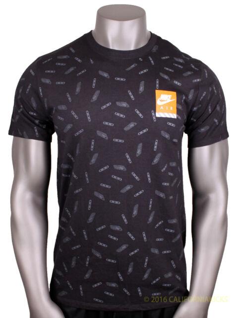 d793bf6a2 Nike Max All Over Print T-shirt Sz M Medium Black Air Day React 90 ...
