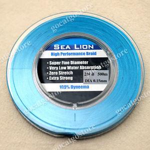 NEW Sea Lion 100% Dyneema Spectra Braid Fishing Line 500M 20lb Blue