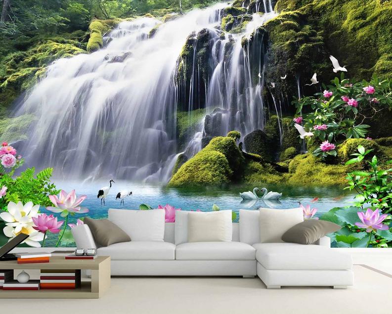 3D Wasserfall 854 Tapete Wandgemälde Tapete Tapeten Bild Familie DE DE DE Summer | Stilvoll und lustig  | Schnelle Lieferung  | Deutschland Online Shop  8ccf89
