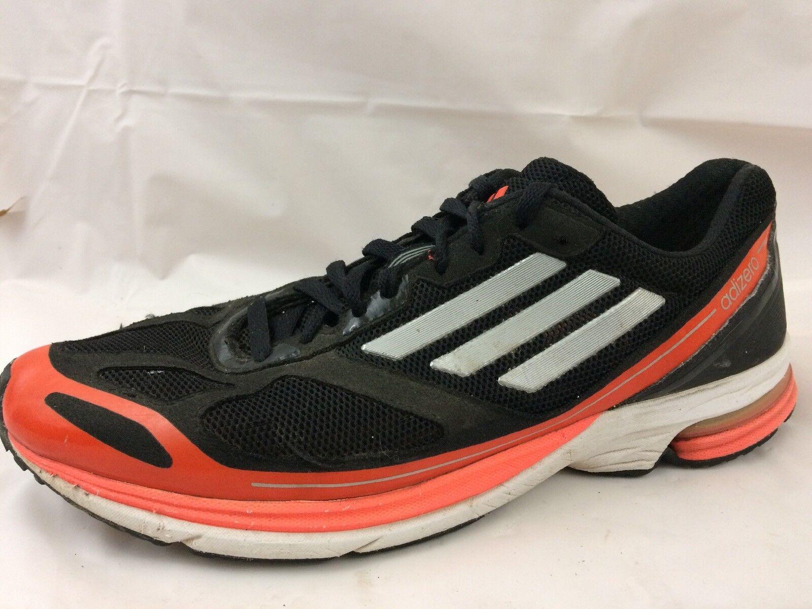 Adidas q21562 adizero boston 4 scarpe da corsa da ginnastica nero arancione mens 10 medio | Elegante Nello Stile  | Gentiluomo/Signora Scarpa