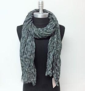 Details about New Long Soft Knit Fashion Scarf Wrap Shawl w/ frayed edge  Cozy UNISEX, Ink grey