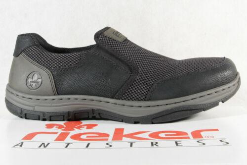 Rieker Chaussures Basses Pantoufles Chaussure Lacée Sneaker Baskets Noir Neuf!!!
