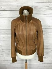 Women's Oasis Leather Jacket - UK8 - Tan - Great Condition