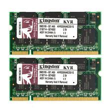 100% New 2GB 2X1GB DDR2 PC2700 333MHz Laptop Memory RAM Intel CPU For Kingston