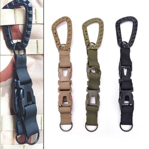 M/&C  1x Carabiner Hook Webbing Buckle Nylon Molle Belt Hanging Key Ring Clip