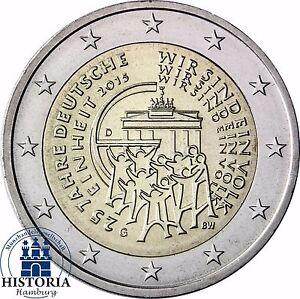 2 Euro 25 Jahre Deutsche Einheit Deutschland 2015 Stempelglanz Mzz G