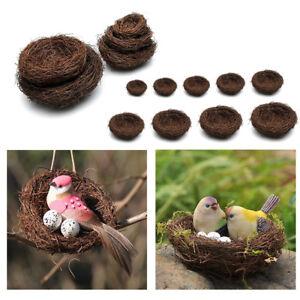 Vine Birds House Bird Nest Feeder Home Garden Decor Nesting Birdhouse 6cm
