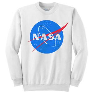 check-out scegli l'autorizzazione a poco prezzo Details about Unisex Crew Neck Sweatshirt Man or Woman NASA Inspired Logo,  White Customizable!- show original title