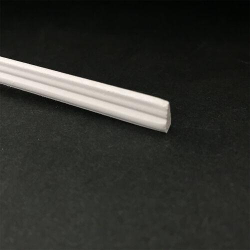 Wholesale 12pcs Dollhouse miniature wood trim molding skirting line white OA000D
