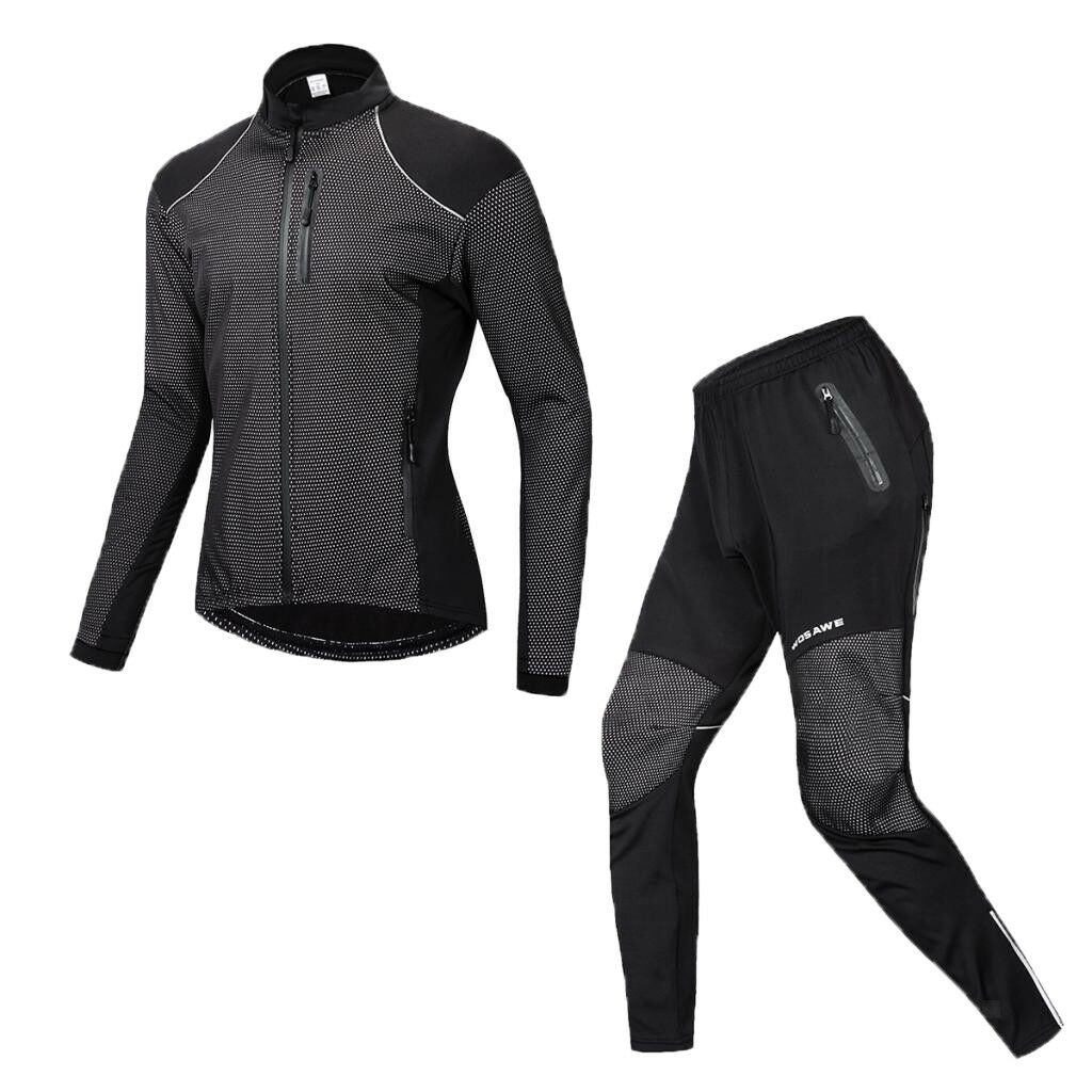 Maglia Da Ciclismo Impermeabile Suit Giacca Pantaloni Set e rivestiuominito in pile giacca moto