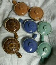 Vintage French Onion Soup Crocks Chili Bowls Ramekins With Lids Set of 8 USA