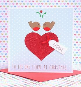 image is loading lovely personalised handmade christmas card husband wife boyfriend - Boyfriend Christmas Card