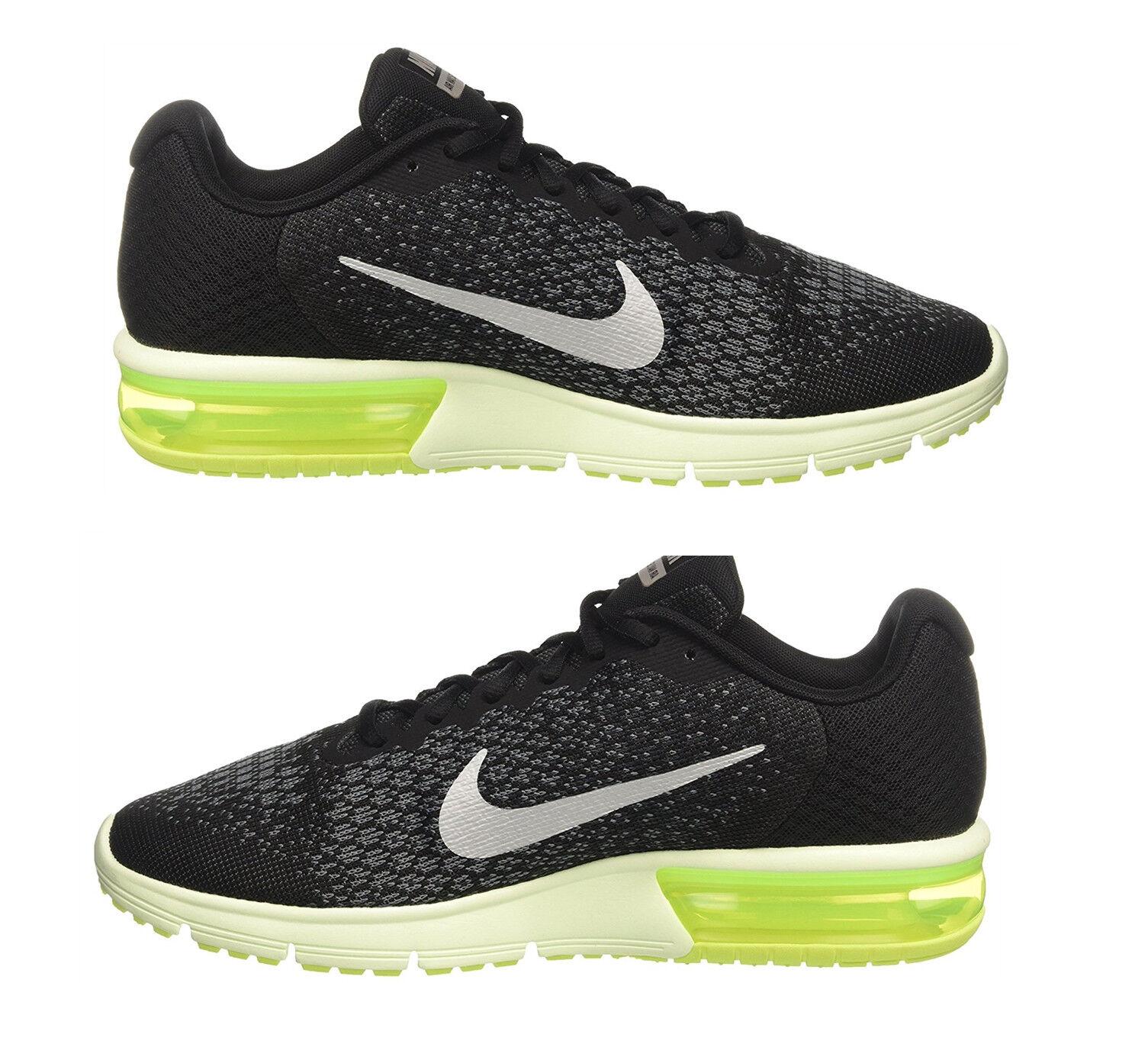 Auténtico NIKE Hombres Tenis MAX Sequent Negro 2 Correr/AIR Entrenamiento Calzado Negro Sequent NUEVO 3718e0