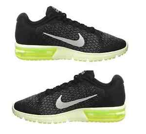 Details about Authentic NIKE Men Sneakers AIR MAX Sequent 2 RunningTraining Shoes Black NEW