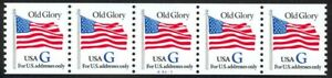 2890-034-G-034-Rate-Flag-Plate-A4435-VF-NH-Strip-of-5