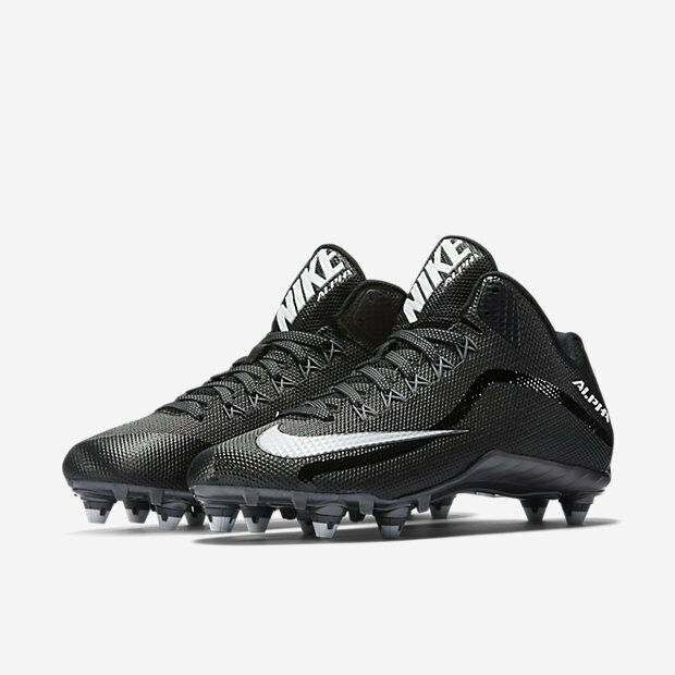 men 9.5/11/11.5/12 nike alpha pro 2 mid 3/4 D/detachable lacrosse/football cleat New shoes for men and women, limited time discount