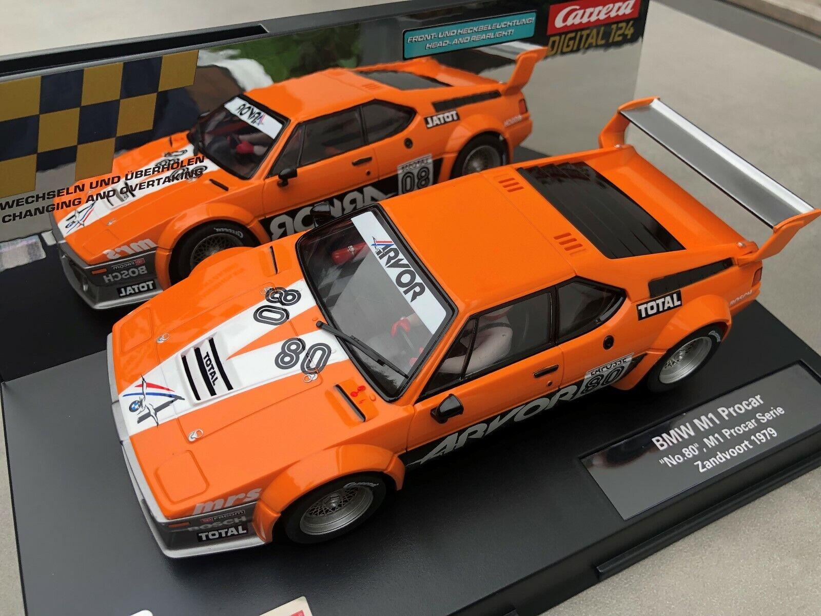 CARRERA DIGITAL 124 20023872 23872 BMW M1 Procar  No. 80, M1 Zandvoort 1979 NEU