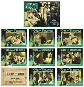 L'ORA DEL TERRORE SET FOTOBUSTE 8+SOGG. JOHN BEAL 1957 THAT NIGHT! LOBBY CARD