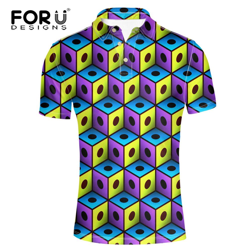 Cool 3D Design Men Lapel Short Shirts Summer Boy Fashion Shirt Stylish Outwear