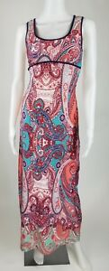 Emerald-Sundae-Sleeveless-Maxi-Dress-Multi-Color-Womens-US-Size-Small-Summer