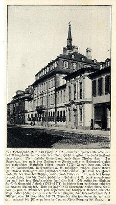 Napoleon-blücher Residenz Bolongaro-palast Höchst A.m Einweihung Rathaus C.1909 Historical Memorabilia Other Historical Memorabilia