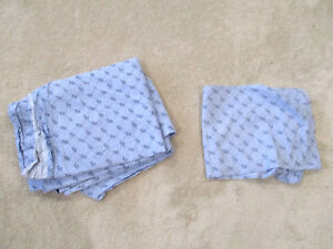 f8cb0f57b Tommy Hilfiger Flat Sheet Pillow Case Set Twin Size Bed Monogram ...