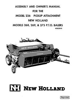 New Holland 226 268 269 275 Baler Operators Manual | eBay