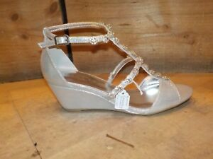 3f1b9bde2e Lunar Cassidy Silver OR Gold Jewel Detail Wedge Sandal FLC110 *2 ...