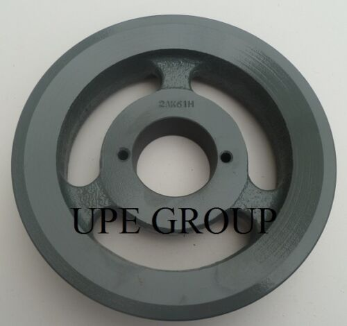 """Cast Iron pulley SHEAVE   5.95/"""" for electric motor 2 groove for 3L 4L /& A  belts"""