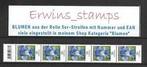 Flores Bundespost fresco mié. - Nº: 3315 1a 5er-rayas con número 5 - 500 selección