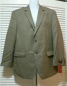 Blazer Notch button 43r Two Izod Jacket Brown New Houndstooth 622364773026 Tan Collar H0q8wIRn
