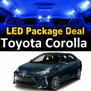 6x blue led lights interior package deal for 2003 2016 - 2015 toyota corolla interior lights ...