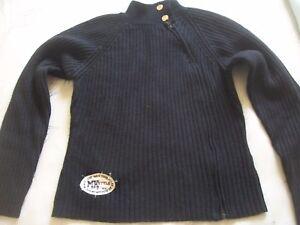 Gilet-bleu-marine-MISSKOW-knitwear-taille-S-14-15-ans