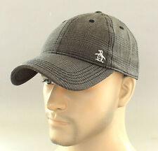 New Original Penguin by Munsingwear Hat Plaid Baseball Cap GOLF Ball OSFA Brown