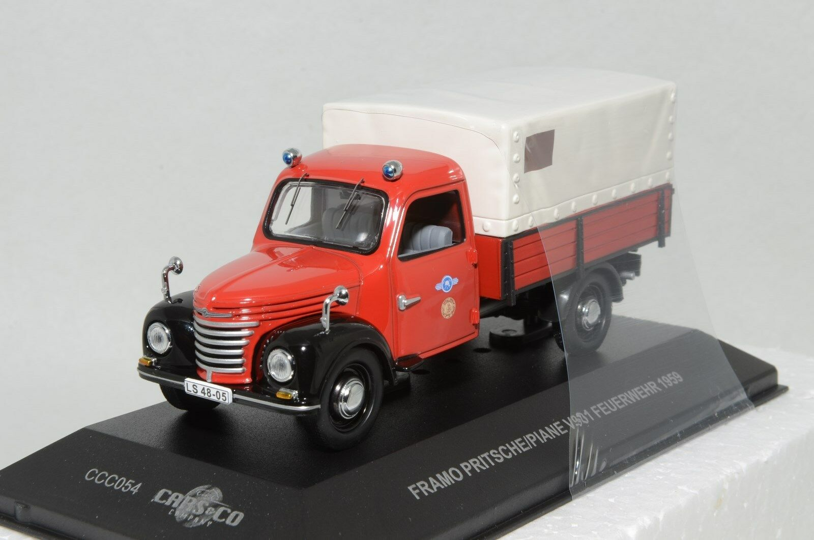 1 43 scale Cars & Co CCC054 East German FRAMO V901 truck fire brigade 1959 NIB