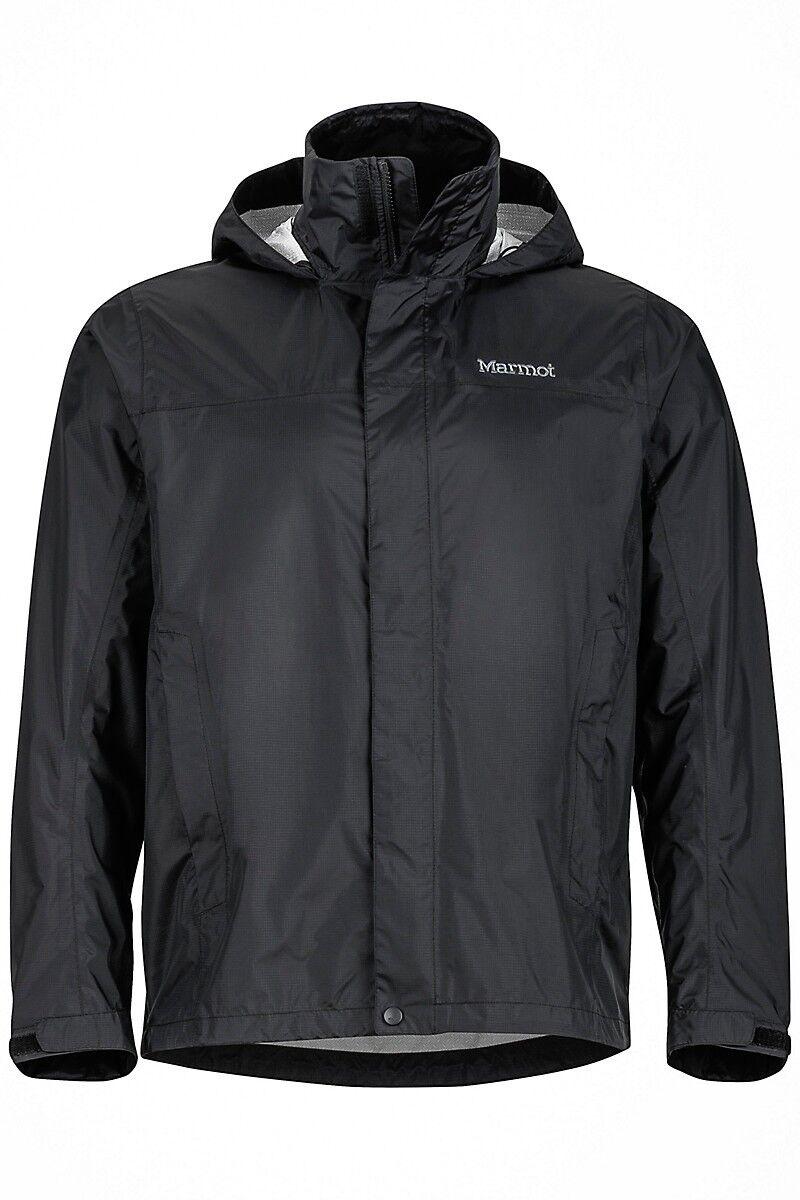 Marmot Marmot Marmot Precip a prueba de agua ligera chaqueta para hombre-Negro a36ce0