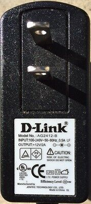 D-Link DIR-825 Wireless Router 12V 2A 2000ma 3.5mm*1.35mm AC Power Adapter NEW