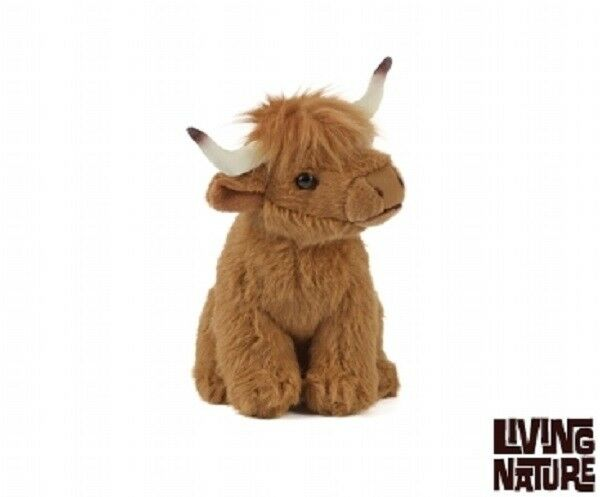 Living Nature Scottish Highland Cow 12cm Plush Stuffed Soft Cuddly