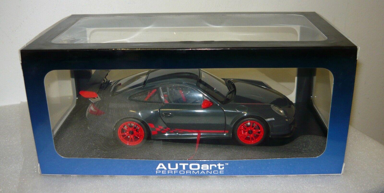 Autoart 78141, Porsche 911 (997) gt3 RS 3.8, Grigio Nero con rosso, 1 18, neu&ovp