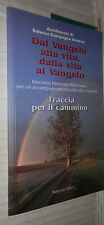 DAL VANGELO ALLA VITA DALLA VITA AL VANGELO Itinerario Pastorale Diocesano di