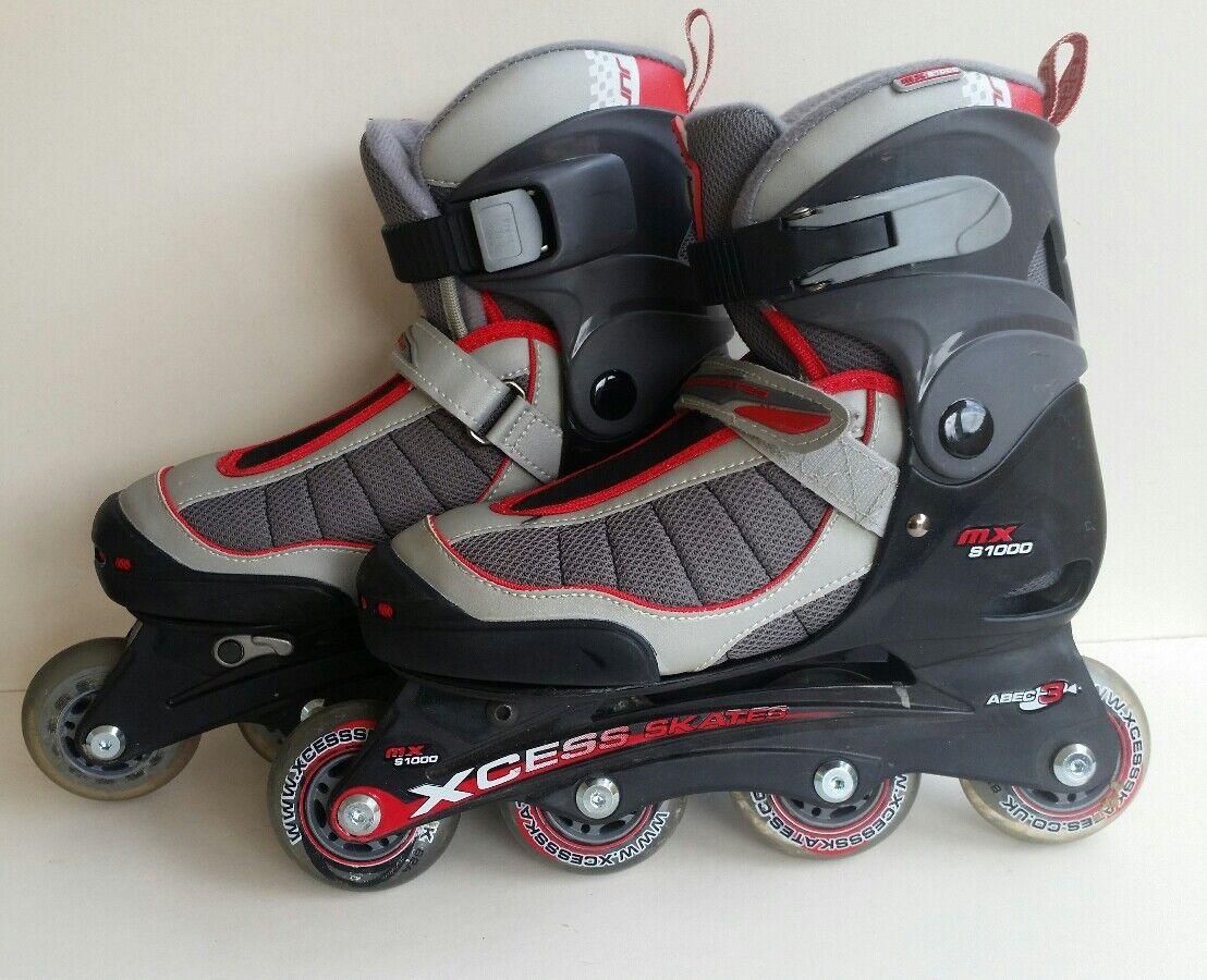 Xcess MX S1000 ROT /Grau Kids Adjustable Inline Skates-3-5