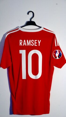 BNWT 1617 Wales Player Issue Shirt v Belgium #10 Ramsey Size M