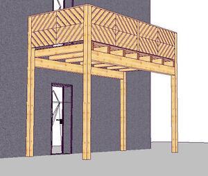 Holzbalkon Vorstellbalkon Balkonbausatz Anbaubalkon Vorbaubalkon