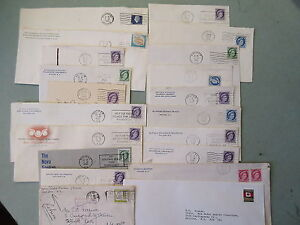 79-Old-Modern-Canada-Postal-Covers-1950-039-s-90-039-s-Stamps-Cancels-Etc