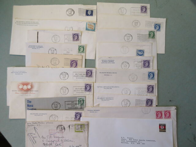 79 Old-Modern Canada Postal Covers 1950's-90's Stamps Cancels Etc