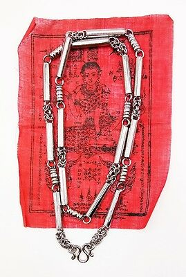 5 Ha Taew 5 Row Yant Necklace Solid Stainless Steel Thai Buddha Amulet Holy 28