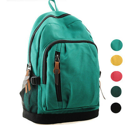 Fashion Men women Backpack Bag canvas schoolbag Satchel Travel bookbag Rucksack