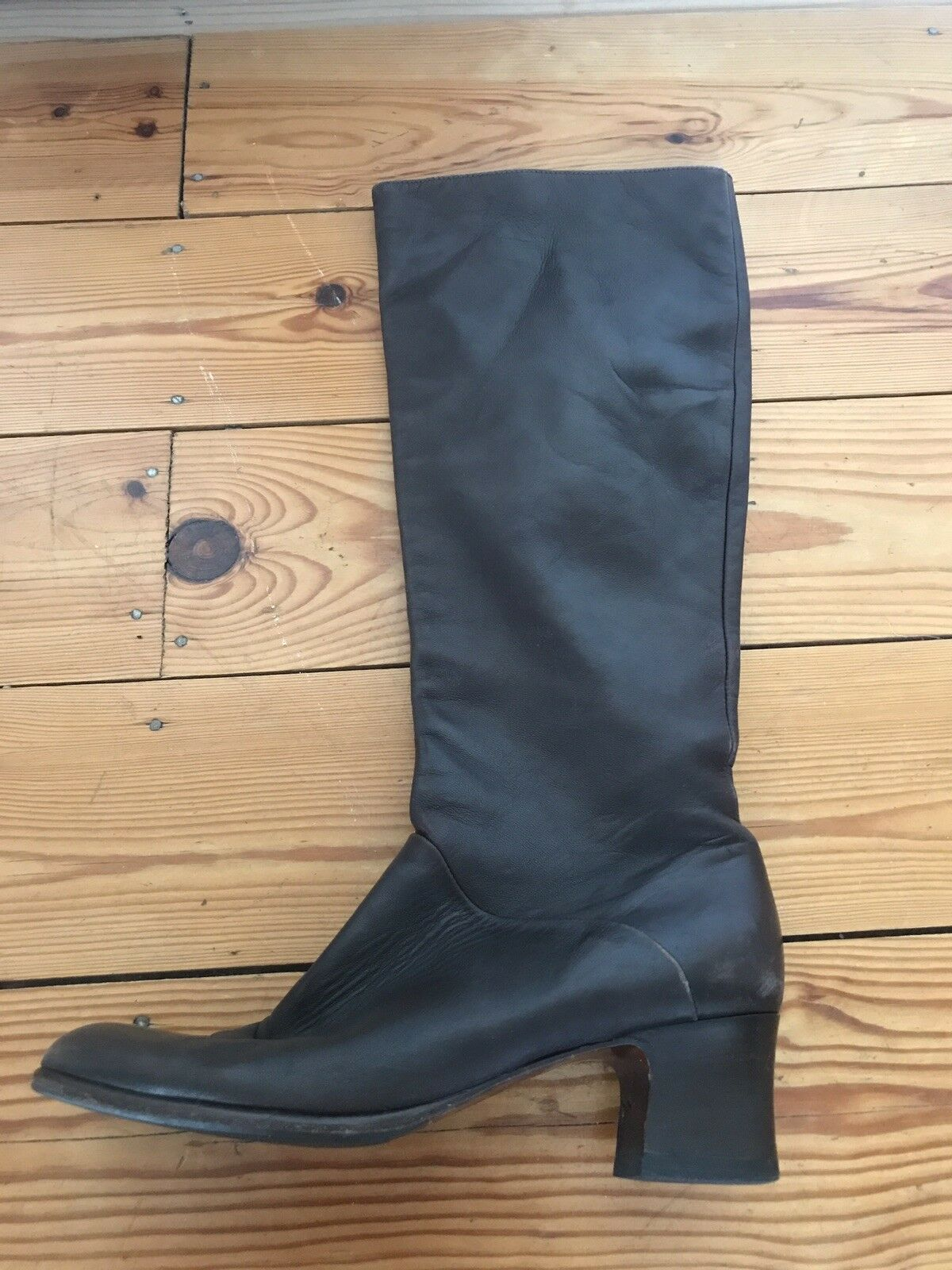 SANNA ROMA LADIES BROWN LEATHER BOOTS SIZE 36.5