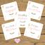 WEDDING-Milestone-Journey-Cards-x20-Shabby-Chic-Flowers-Pink-Hearts-Engagement