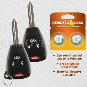 Jeep Grand Cherokee Key Fob Battery >> Details About 2 Keyless Entry Remote For 2005 2006 2007 Jeep Grand Cherokee Car Key Fob